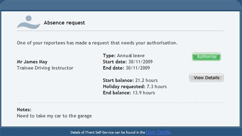 email notification on leave untitled document admin exeter ac uk