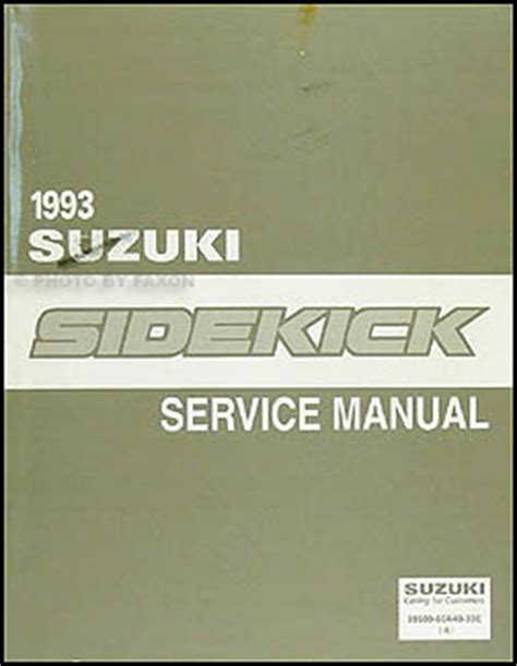 auto repair manual free download 1993 suzuki samurai engine control 1993 suzuki sidekick repair shop manual original