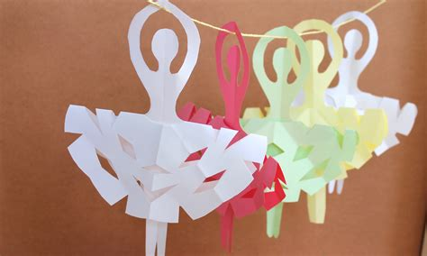 simple paper crafts easy paper craft how to make snowflake ballerinas