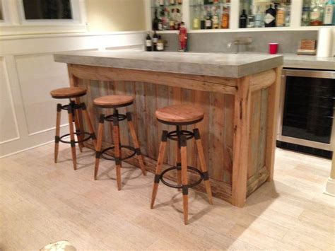 old kitchen design with bar rustic reclaimed wood kitchen reclaimed wood bar top made from 500lb slab of concrete