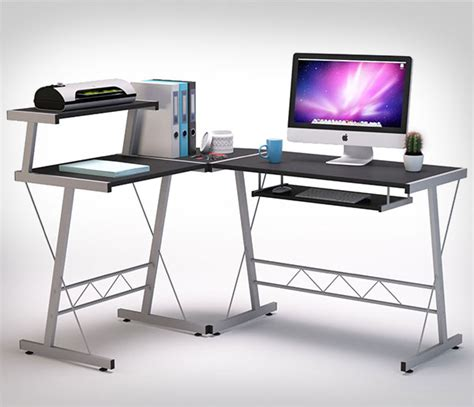 L Table by 10 Best Corner Computer Desk Table For Graphic Designers