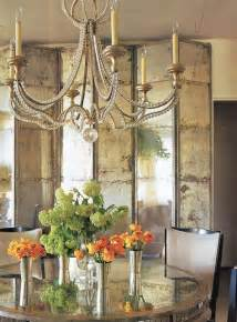 vintage rustic home decor rustic mirrored room divider and round dining table