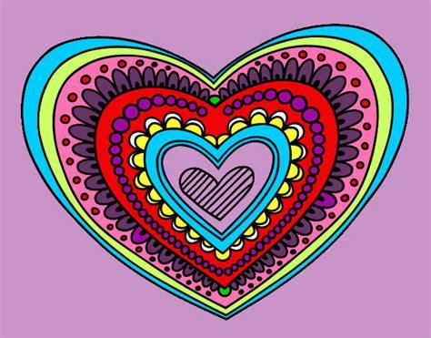 imagenes mandalas de corazones dibujo de karen98 pintado por karen104 en dibujos net el