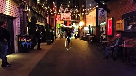 In Printers Alley hooping in printers alley nashville