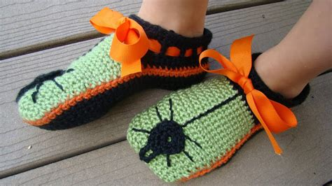 scary spider slippers crocheting conversations spooky and scary