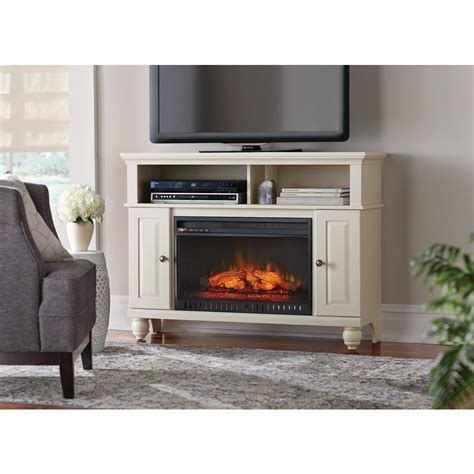 Home Depot Electric Fireplace Tv Stand by Home Decorators Collection Charles Mill 46 In Convertible Media Console Electric Fireplace In