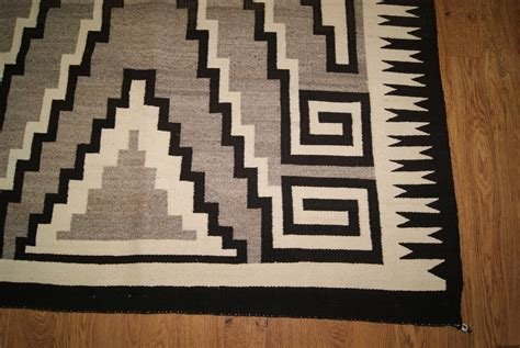 Two Grey Rugs For Sale by Two Grey Pattern Navajo Rug