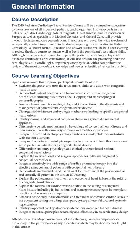 Mba Programs In Orange County California by Echo Brochure Ped Cardiology Board Review Mc4052 46