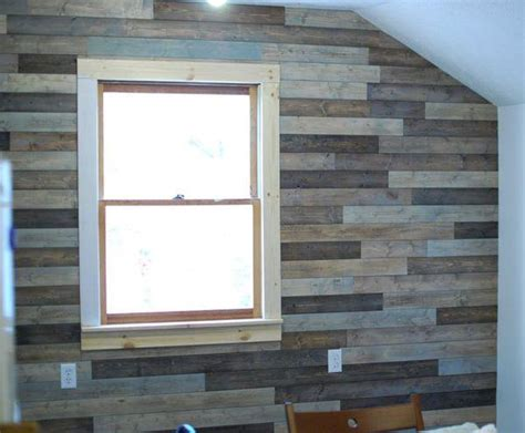 diy wood panel wall picture of diy attic wall pallet decor