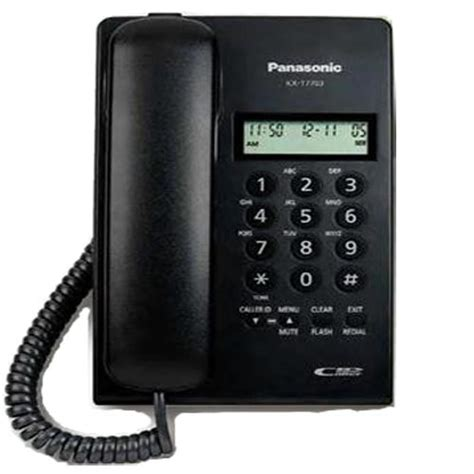 panasonic telepon kabel kx t7703 with lcd single line