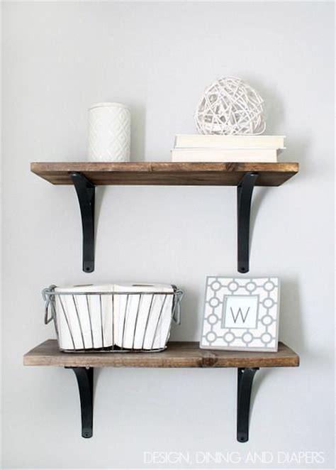 best 25 wooden bathroom shelves ideas on