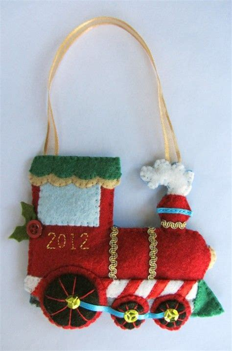 patterns for christmas ornaments of felt train ornament great template i ll simplify