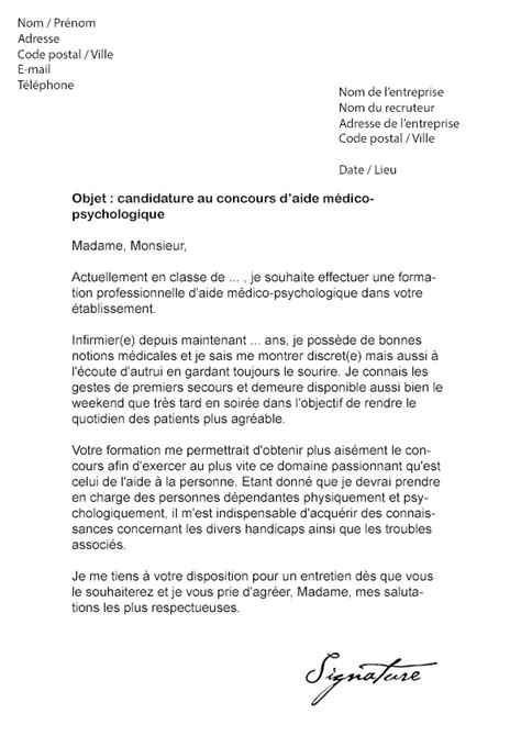 Mod Le De Lettre De Motivation Infirmier lettre de motivation stage infirmier psychiatrie