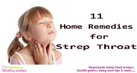 11 home remedies to treat strep throat in children