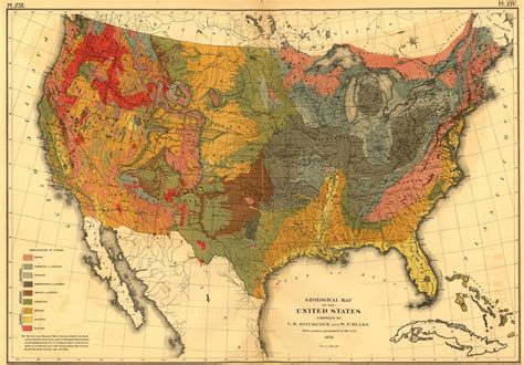 printable poster of u s presidents print of geological map of the u s poster on vintage