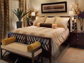 Master Bedroom Decor Ideas Neutral Master Bedroom With Flowers Hgtv