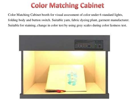 Colour Matching Cabinet by Color Matching Cabinet