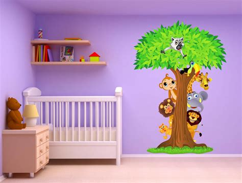 Owl Wall Sticker stickers chambre bebe jungle chaios com