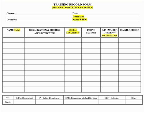 10 Staff Training Record Template Legacy Builder Coaching Employee Log Template Excel