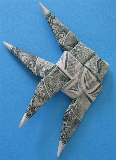 Origami Fish Dollar - dollar bill origami angelfish 183 made from paper 183