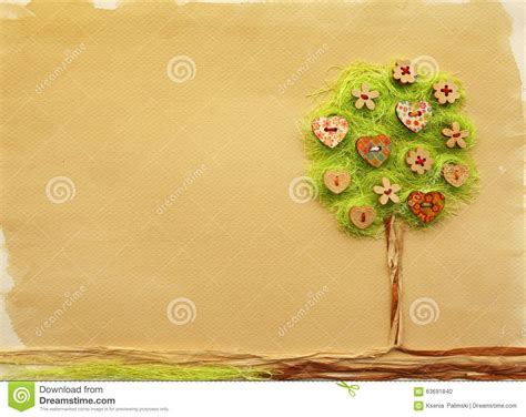 Handmade Book Cover Design - tree craft stock illustration image 63691840