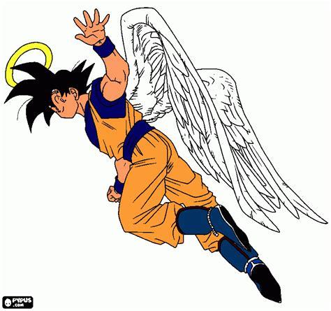 imagenes de goku angel goku angel para colorear goku angel para imprimir
