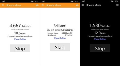 Software Mining Bitcoin 1 by Bitcoin Miner App Updated On Windows 10 Mobile And Pc With