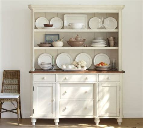 White Dining Room Hutch Keaton Buffet Hutch White Pottery Barn