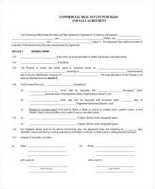 Commercial Real Estate Purchase Agreement Template Sample Real Estate Purchase Agreement Form 6 Free