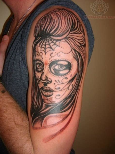 skull half sleeve tattoos for men half sleeve sugar skull tattoos for