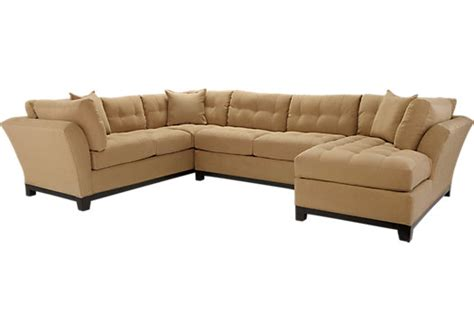 cindy crawford sectional couch cindy crawford metropolis peat 3pc sectional living room