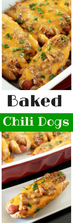 chili cheese bake baked chili cheese dogs