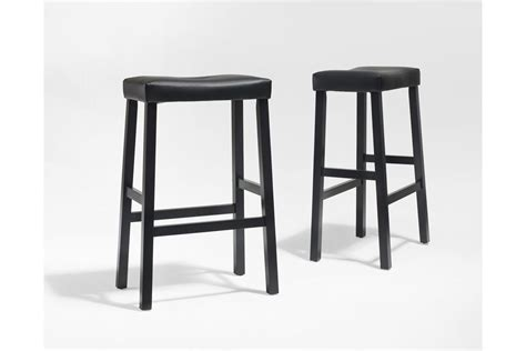 counter height padded saddle stools upholstered saddle seat bar stool in black with 29 inch