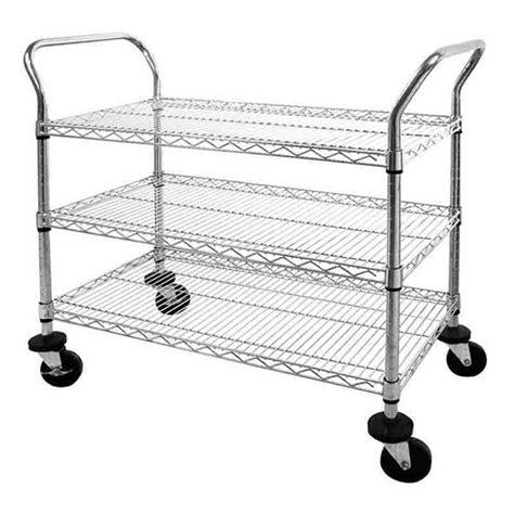 Wire Shelf Cart by Heavy Duty Chrome Wire Shelf Cart In Kitchen Island Carts