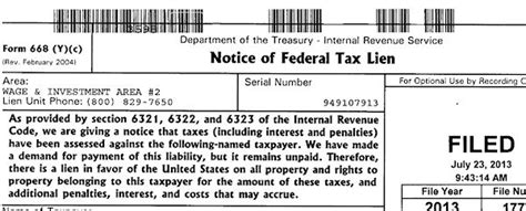 Irs Records Tax Liens Irs File Tax Lien Pay Free Filesdia