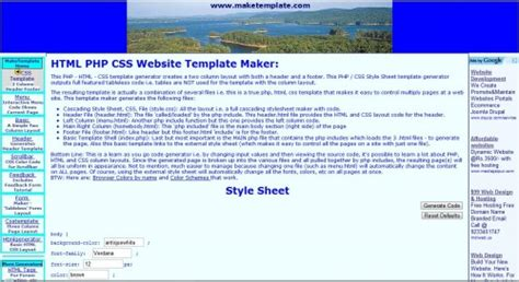 9 best and free online template generators for websites or