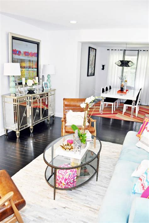 eclectic living room  dining room create unique