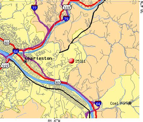 zip code map west virginia charleston west virginia zip code