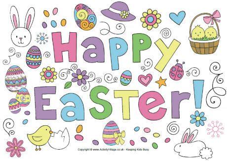 Printable Happy Easter Poster | ria s kaarten pasen 2013