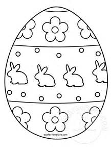 Easter Picture Templates by Easter Egg Colouring Page Easter Template