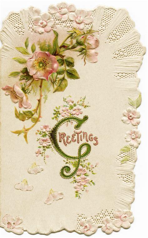 Vintage Gift Card - vintag christmas cards victorian christmas card vintage pink flower image antique