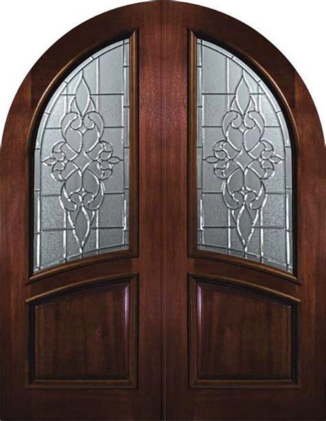 Exterior Slab Door Slab Exterior Door 96 Wood Mahogany Courtlandt Top Glass Mediterranean Front