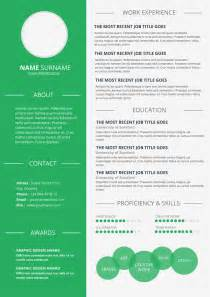 simple infographic resume resume template