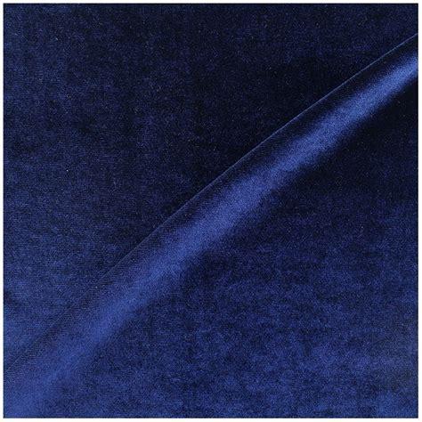 spandex velvet fabric royal blue x 10cm ma mercerie