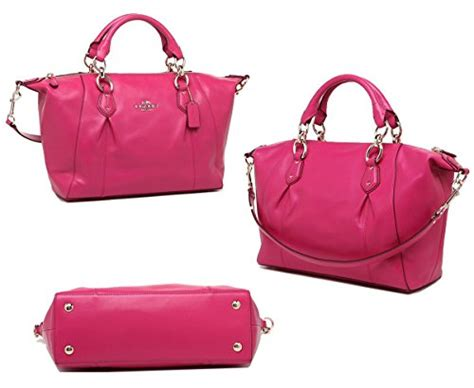 Tas Coach Original Coach Large Pink Satchel new authentic coach new york colette pink leather satchel shoulder bag style for