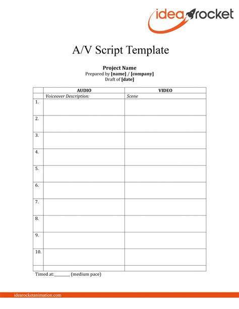 av script template this script free template idearocket