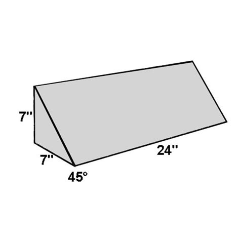 45 Degree Wedge Pillow by 45 Degree Angle