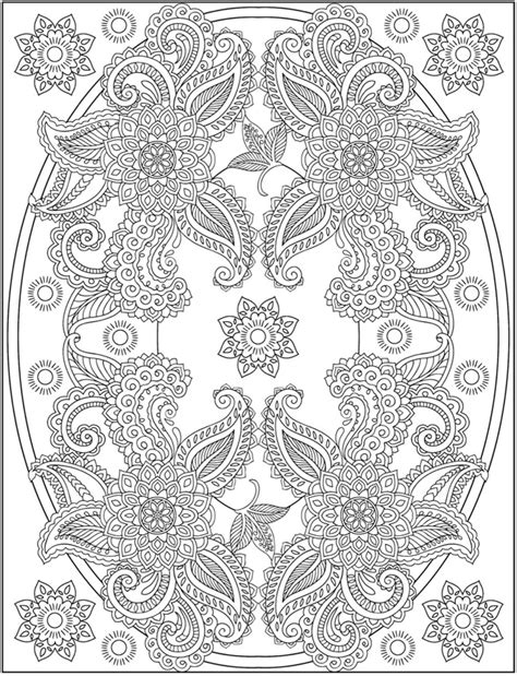 coloring pages henna art welcome to dover publications