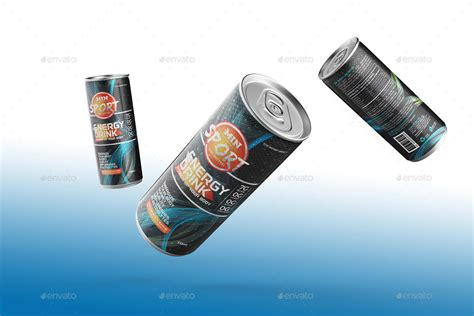 Energy Drink Packaging Can Label By Plexa Designs Graphicriver Energy Drink Design Template