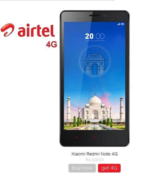 airtel mobile airtel starts taking pre order for 4g smartphone redmi